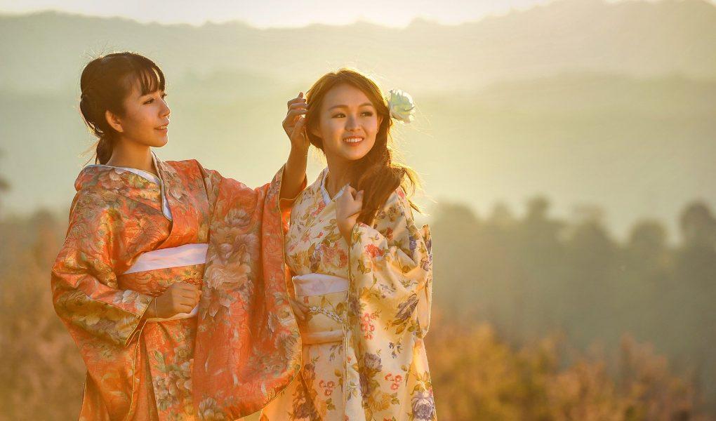 Femmes japonaises en kimono